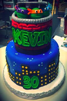 Ninja Turtle Birthday Cake, Turtle Cakes, Ninja Turtles, Bakery, Desserts, Food, Tailgate Desserts, Deserts, Essen