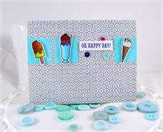 Oh Happy Day Two ***Hero Arts - color tiny stamped images and pop them up with 3 dimensional adhesive to create