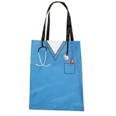Now medical professionals can stay organized everywhere they go with this Scrub-Shaped Convertible Tote Bag!