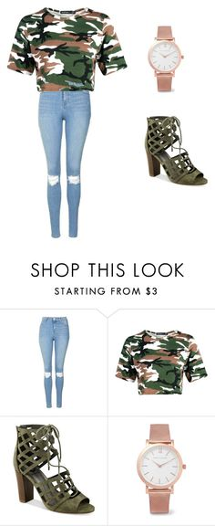 freshman by lashay4240 on Polyvore featuring Topshop, G by Guess and Larsson & Jennings