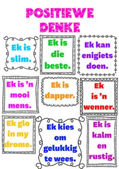 Activities For Boys, Classroom Activities, Infant Activities, Printable Preschool Worksheets, Worksheets For Kids, Math Poster, School Murals, Teacher Boards, Afrikaans Quotes