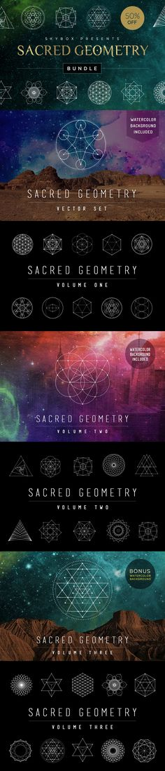 Sacred Geometry Vector Illustration Bundle by Skybox Creative