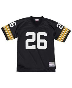 Mitchell  amp  Ness Men s Rod Woodson Pittsburgh Steelers Replica Throwback  Jersey - Black S Rod 21dc3d35b