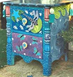 flower painted furniture | PAINTED FURNITURE