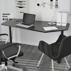 IKEA offers everything from living room furniture to mattresses and bedroom furniture so that you can design your life at home. Check out our furniture and home furnishings! Ikea Office Chair, White Desk Office, Grey Desk, Black Desk, White Desks, Office Desks, Bureau Design, Home Office Space, Home Office Decor