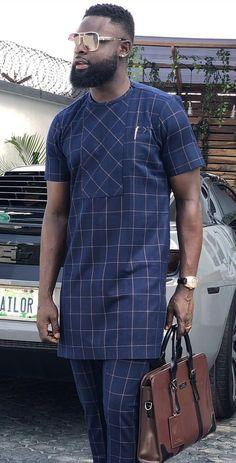Sweet senator wears for men - DarlingNaija African Male Suits, African Wear Styles For Men, African Shirts For Men, African Dresses For Kids, African Attire For Men, African Clothing For Men, Latest African Fashion Dresses, Costume Africain, Dashiki For Men