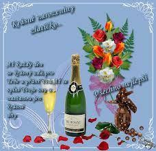 Výsledek obrázku pro happy přáníčka Wine Bottle Images, Champagne, Table Decorations, Food, Essen, Meals, Yemek, Dinner Table Decorations, Eten