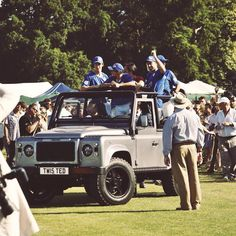 Photo credits to Clive Bennett.  Twisted Defender looking great at this year's Jaeger-LeCoultre Gold Cup Final! -  #TwistedDefender #Polo #GoldCup #Final #Lifestyle #LandRoverDefender #British #Sport #Style #Handcrafted #Customised #Individual #Defender #LandRover #Summer #HurlinghamPark