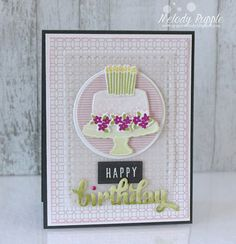 card cake candles Birthday anniversary A Pretty Birthday Cake Handmade Birthday Cards #reverseconfetti
