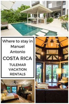 Looking for a luxury place to stay in Manuel Antonio, Costa Rica? Check out Tulemar Vacation Rentals for luxury homes and bungalows. Best Resorts, Best Vacations, Hotels And Resorts, Best Hotels, Family Vacations, Living In Costa Rica, Vacation Home Rentals, Vacation Ideas, Hotel Amenities