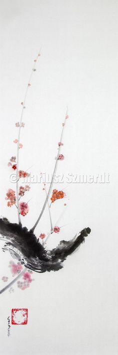 Cherry blossom artwork. Japan painting. cherry-blossom-painting?esepainting #cherryblossom #artwork #japanart