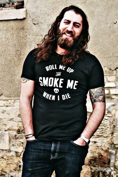 e7cdc991 Orchard Street Apparel · Products · Roll Me Up & Smoke Me Unisex Black T- shirt - Willie Nelson Lyric Slim