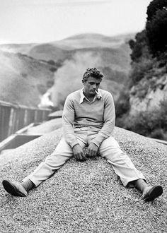 "jamesdeaner: "" James Dean on the set of East of Eden, 1954. """