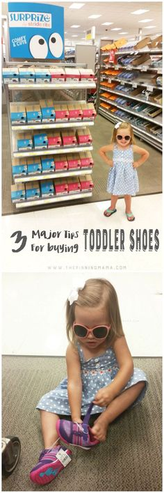 How to find toddler shoes that don't fall off and fit perfectly. Great tips on buying shoes your toddler will love!