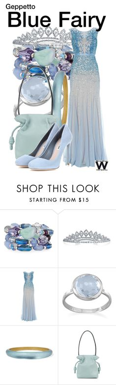 """Geppetto"" by wearwhatyouwatch ❤ liked on Polyvore featuring Fragments, Bling Jewelry, Adrianna Papell, BillyTheTree, Alexis Bittar, Loewe, Miu Miu, wearwhatyouwatch and film"