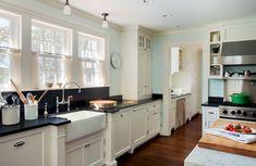 119 Stuning Farmhouse Kitchen Design Ideas And Remodel To Inspire Your Kitchen Ivory Kitchen Cabinets, Kitchen Countertops, Ikea Kitchen Design, Kitchen Interior, Kitchen Ideas, Modern Farmhouse Kitchens, Cool Kitchens, Kitchen Floor Plans, Apartment Kitchen