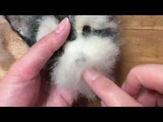 羊毛フェルト 簡単な作り方 のんびりワンコ ⑤顔を作る - YouTube