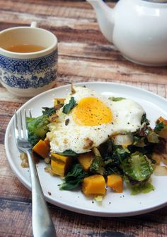 Happy Thanksgiving! And Fried Eggs Over Garlic Greens & Delicata Squash — Foraged Dish