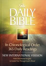 we love the chronological order bible!  It really helps the kids (& Parents) put Bible envents in order.  We read every morning after breakfast.