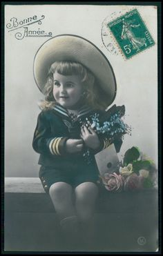 Pretty Child Girl Fantasy Glamour Wish Letter vintage old 1910s photo postcard a