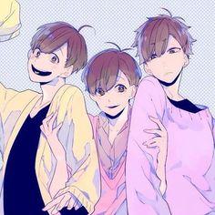 todomatsu, ichimatsu, and osomatsu-san image Cool Anime Pictures, Ichimatsu, Manga, Me Me Me Anime, Vocaloid, One Pic, We Heart It, Art Projects, Fan Art
