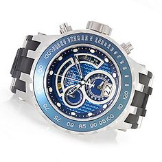 ShopHQ Shopping - Invicta Reserve Specialty Subaqua Swiss Made Quartz Chronograph Polyurethane Strap Watch. or Silver-tone dial Cool Watches, Watches For Men, Men's Watches, Watch Sale, Watches Online, Casio Watch, Chronograph, Quartz, Silver