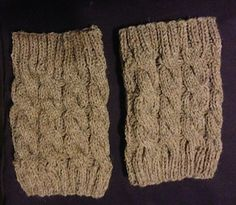 Cabled boot cuff - free Ravelry download