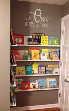 Add DIY Space Saver Bookshelf Behind The Door.