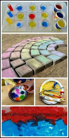 20 COLORFUL ideas for kids including sensory play, color mixing, art, games and more!