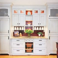 48 super ideas for kitchen pantry hutch built ins Diy Kitchen Storage, Kitchen Redo, Kitchen Pantry, New Kitchen, Kitchen Remodel, Kitchen Dining, Kitchen Cabinets, Cupboards, Kitchen Ideas