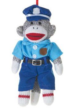 Policeman Sock Monkey