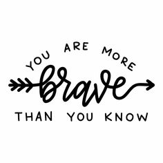 You Are Brave Quote Wall Sticker
