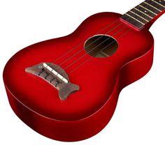 Kala Makala Dolphin Red, ukulele soprano sized, agathis top