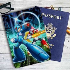 Megaman X Game Leather Passport Wallet Case Cover