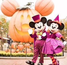Mickey and Minnie out for a stroll on Halloween🖤 Cute Disney, Disney Dream, Disney Magic, Disneyland Halloween, Disneyland Trip, Disney World Parks, Disney Pixar, Walt Disney, Disney Characters Costumes