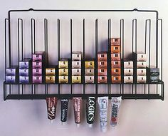 Salon Hair Color Tube Storage Rack - Tube Color Storage - Salon Interiors....for FHF hand creams