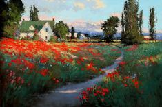 """Romona Youngquist-""""Remains of Summer's Past"""" oil on canvas"""