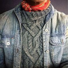 """7359eaffd051 Oli Congress on Instagram  """"I just can t get enough  rrl  doublerl   ralphlauren  indigo  denim  shawl  usn  western  rugged  style  bandana   ootd  wiwt ..."""