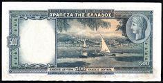 YUNANİSTAN 500 DRAHMİ 1939-ARKA YÜZÜ