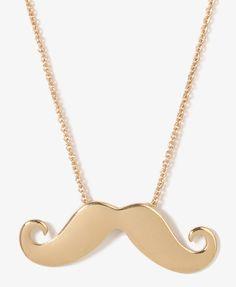 Mustache necklace.