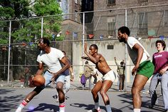 Watch street ball at The Cage. The Cage is a public basketball court on West 4th street in NYC and it's a renowned scouting ground for the NBA.  Hopefuls players from all over the country travel to the cage for a chance to be seen and professional players often show up and play to keep up their street cred. I went once before (kinda on accident) and saw Lebron James. I have GOT to go back.