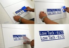 Transferring and applying vinyl graphics using 6170 Low Tack Application Tape
