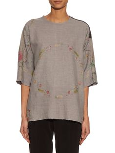 Isabel linen top | By Walid | MATCHESFASHION.COM