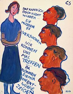 Leben ? oder Theater ? Life ? or Theatre ? Gouache sur papier, 1940-1942 collection Joods Historisch Museum Amsterdam