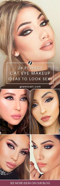 Check out many variations of cat eye makeup technique. This makeup is ultimately tasteful and really sexy, and you can rock it for any occasion.