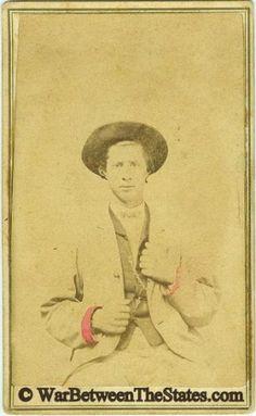 CDV, Confederate Soldier Albert Jones