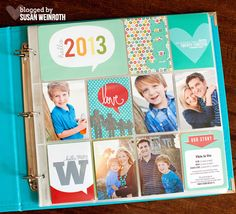 2013 Project life Cover Page - Susan Weinroth #projectlife  So bummed about not having signed up for this kit!