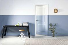 KARWEI | Eyecatcher: de horizontale lijn van de lambrisering is doorgetrokken over de deur.