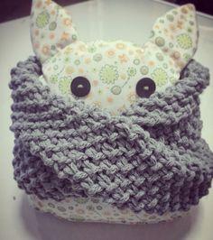 Cuello para niño. Lana y punto de arroz. #knitting #DIY #cuello #bufanda