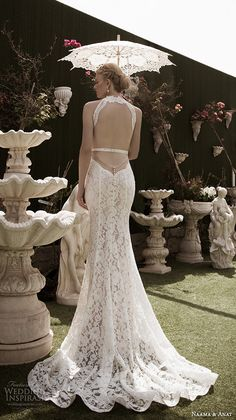 naama anat fall 2016 bridal dresses beautiful sheath wedding dress lace strap v neckline lace crop top style charming open low back